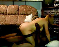 Married woman rides a black cock and her hubby films