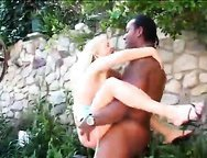 Sultry British blondie craves massive black pecker