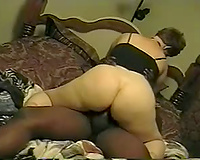 Short-haired milf sucks and rides a BBC in homemade clip