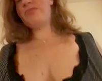 Black cock for this busty white cougar is like a miracle