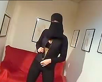 Arab slutty wife Got A New Taking a Huge Black Dildo