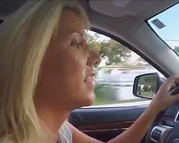 A Day At The Park – She Walking Around And Driving With Cum On Her Face