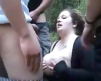 Dumb Ass Bitch Slutty Wife Gang Fucked By Guys