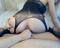 Nice anal cock sitting