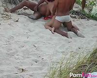 Screwing wild hooker on the beach