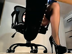 Homemade teaser solo scene with me showing my worthy legs