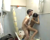 Horny Indian pair have a fun rear banging in the baths
