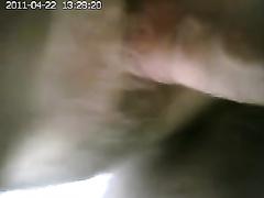 Secretly filming my cheating wife getting her juicy bushy muff drilled