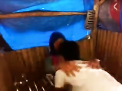 Nasty Malaysian white wife gives oral to her hot BF in a hut