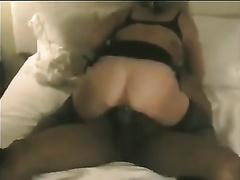 My hawt wench BBC slut is riding large dark shlong and engulfing some other
