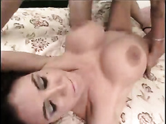 Bosomy MILF can't live without spooning just as much as she can't live without reverse cowgirl