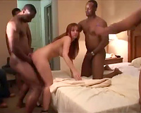 This redhead is such a slutty wife  and takes creampies