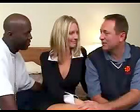 White wife gets pimped to hard dick black men