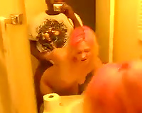 Slut fucking in the bathroom