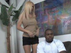 Big Black Man copulates white cougar – interracial porn