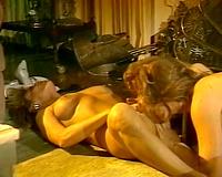 Passionate lesbian MILFs scissoring whilst having vehement sex on camera
