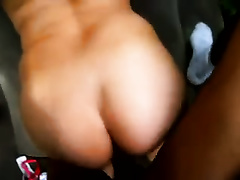 Me and my slutty wife having interracial from behind sex indoors