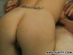Young dilettante pair fisrt blow job on camera
