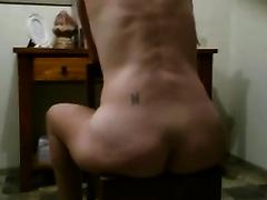 My tattooed Married slut demonstrates her gazoo in homemade solo scene