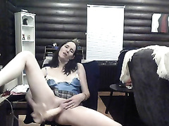 I take my time with my suction cup sex toy riding it priceless and slow