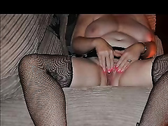 My corpulent housewife shows her body and masturbates her cunt