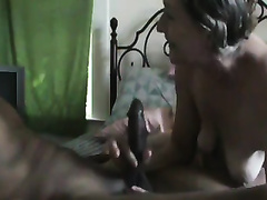 Saggy-boobed cheating wife sucks my pecker and doesn't wish to stop