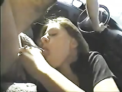 Fucking a gorgeous non-professional brunette hair in my car on livecam