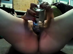 My slutty corpulent husband drills her powerful muff with a bottle