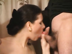 Slutty wench receives drilled compilation hirsute bitch sucks the cock
