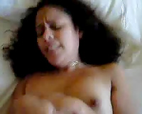 I screwed her in the missionary position after this babe hairless her vagina