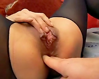 The coarse and hardcore anal fisting for my cougar cheating wife