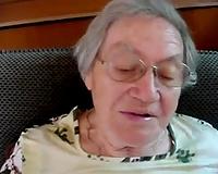 Short-haired granny demonstrates her fellatio skills in POV movie scene
