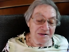 Short-haired granny demonstrates her fellatio skills in POV movie scene