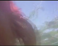 Homemade video with my cheating wife bathing nude in a lake
