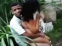 I caught my buddy fucking his corpulent girlfriend in the garden