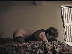Short haired white milf dirty slut wife is glad on top of this dark dude