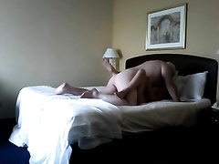 Hot golddigger skank blows me in the hotel room on webcam