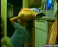 big beautiful woman Indian mamma acquires screwed doggy style in the kitchen