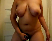 Chunky latin babe milf with giant natural tits on the cam