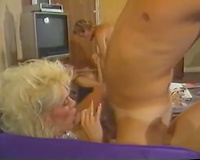 Horny and impure blondie slut in hot nylons gets shoved