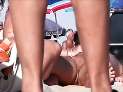 Nasty mature couples on the European nudist beach feel no shame