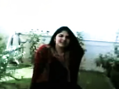 Homemade solo with a corpulent Paki sweetheart showing her body
