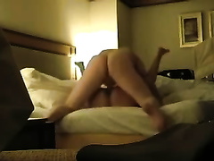 My dark-haired horny white wife sucks me off and enjoys coarse sex