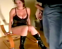 Submissive brunette hair girl is awaiting for me to stick my dong