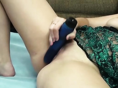 This wicked chick's solo masturbation is worth checking out