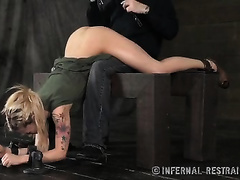Alluring blond slutwife acquires balls in her love tunnel and arse