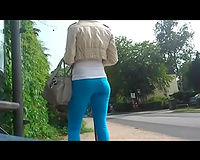Gal with ideal legs and gazoo receives caught on my hidden web camera