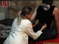 Hot blonde cheating wife craves to be dominated and tied by a dude