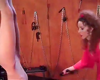 Svelte golden-haired receives her wonderful arse whipped fine during the time that hanging upside down
