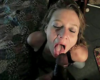 Cute mature wife black cock sucker